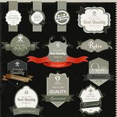 Premium Quality labels — Stock Vector
