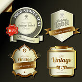 Retro vintage labels — Stock Vector