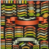 Ensemble de rubans de vecteur — Vecteur