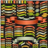 Set of vector ribbons — Vettoriale Stock