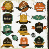 Vintage premium qualitylabels — Stockvektor
