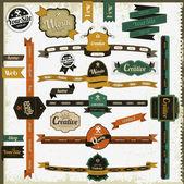 éléments de site web rétro style vintage — Vecteur