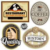 Prvky designu menu restaurace — Stock vektor