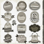 Vintage premium qualitylabels — Vecteur