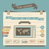Vintage style website templates — Vector de stock