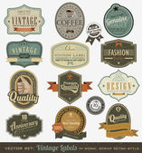 Vintage premium qualitylabels — Vector de stock