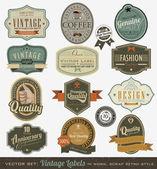 Vintage premium qualitylabels — Vetorial Stock