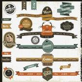 Vintage-stil-website-elemente — Stockvektor