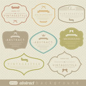 Retro vintage labels — Stockvector