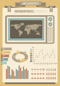 Vintage infographics elements for design — Vector de stock