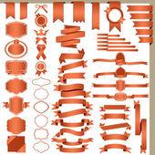 Conjunto de cintas rojas — Vector de stock