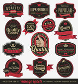 Vintage premium quality labels — Stock vektor