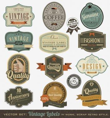 Vintage premium qualitylabels