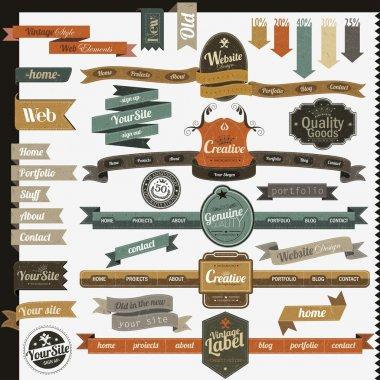 Retro vintage style website elements