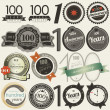Vecteur: 100 years anniversary signs and cards collection