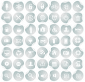 Icon collection with stickers — Stock Vector