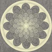 Mandala, modello etnico nativo — Vettoriale Stock