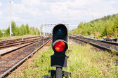 Red signal — Stock Photo
