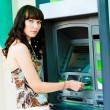 Cash withdrawal — Stock Photo