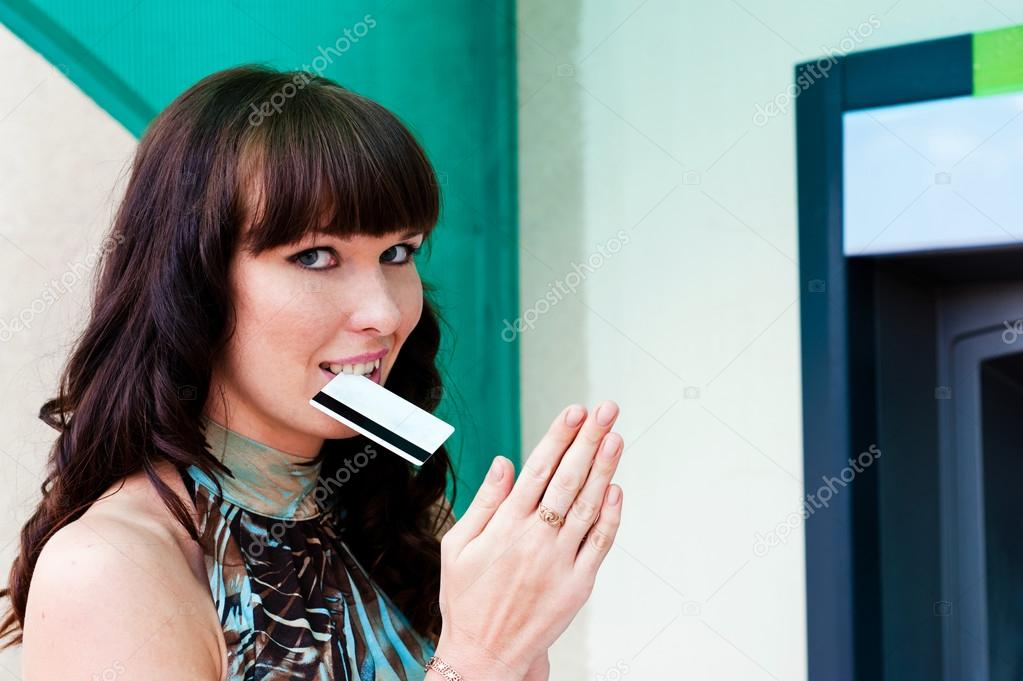 Woman in anticipation of the money  Stock Photo #12160336