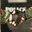 Royalty-Free Stock Photo: Handshake police