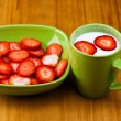 Stock Photo: Strawberries on plate