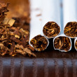 Stock Photo: Tobacco and cigarettes