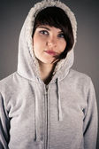 Beautiful woman in a jacket — Stock Photo