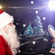Santa Claus and Christmas Bunny — Stock Photo