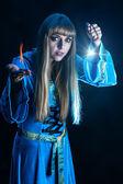 Female magician — Stock Photo