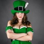 Woman dressed as a leprechaun — Stock Photo #39303727