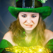 Leprechaun with greedy eyes — Stock Photo #39303961