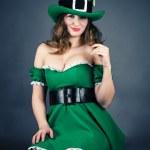 Woman dressed as leprechaun — Stock Photo #39305057