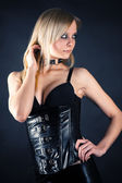 Seductive woman in a corset — Stock Photo