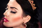 Beautiful luxurious princess in the diadem — Stock Photo