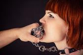 Woman as obedient slaves — Foto Stock