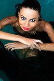 Beautiful woman in water — Stock Photo