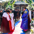 A performance of the Traditional Korean Wedding. - Stock Photo
