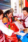 A performance of the Traditional Korean Wedding. — Stock Photo