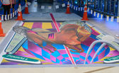 Bangkok - March 3 : 3d illusionary painting by Tony Cuboliquido — Photo