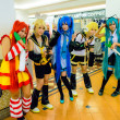 Japanese anime cosplay pose in Comic Party 46th. — Stock Photo