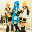 Stock Photo: Japanese anime cosplay pose in Comic Party 46th.