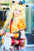 Bangkok - March 30 : An unidentified Japanese anime cosplay pose — Stock fotografie