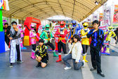 Bangkok - March 30 : Cosplayer from Gokaigers in Thai-Japan Anim — Stock Photo