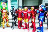 Cosplayer as characters Iron Man from Marvel Comics. — Stock Photo