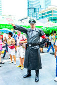 Cosplayer as characters Nazi soldier. — Stock Photo
