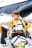 Cosplayer as characters from Attack on Titan. — Stock Photo