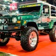 Jeep Wrangler JK on display at Bangkok International Auto Salon 2013. — Stock Photo #27229449