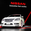Nissan Sylphy on display at Bangkok International Auto Salon 2013. — Stock Photo