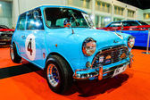 Classic Blue Mini on display at Bangkok International Auto Salon 2013. — Stock Photo